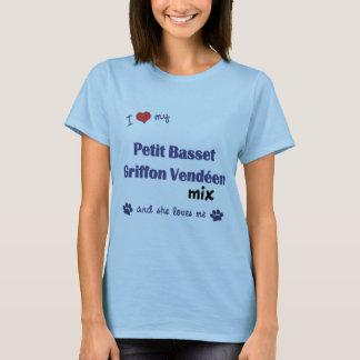 Camiseta Ame minha pequeno mistura de Griffon Vendeen do