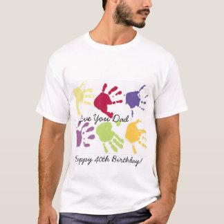 Camiseta Ame-o aniversário de 40 anos feliz do pai! T-shirt