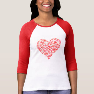 Camiseta Ame-o dia de são valentim vermelho do t-shirt do