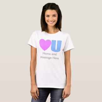 Camiseta Ame-o t-shirt da mensagem para ela