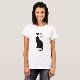 Camiseta Ame o t-shirt das minhas mulheres do gato