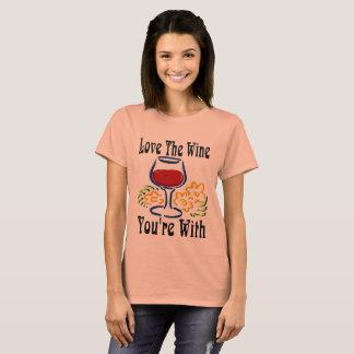 Camiseta Ame o vinho, você estão com