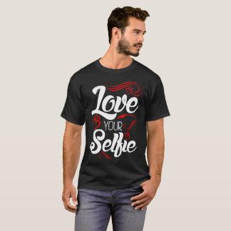 Camiseta Ame seu Tshirt engraçado de Selfie Valentinte