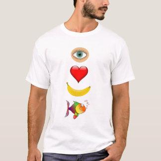 Camiseta Ame seus peixes da banana!