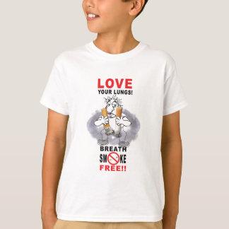 Camiseta Ame seus pulmões - pare de fumar