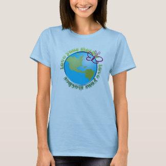Camiseta ame sua Mãe Terra T orgânico