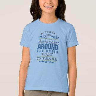 Camiseta Amelia Earhart um aniversário de 75 anos
