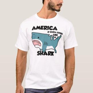 Camiseta América é um tubarão (ou veja afligido novo)