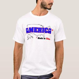Camiseta América, feita em China
