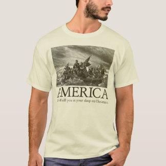 Camiseta América: Nós matá-lo-emos em seu sono em Christm
