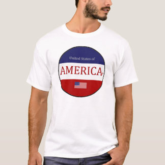 Camiseta América oval colore o t-shirt moderno do