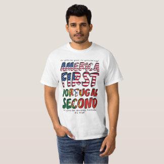 Camiseta América primeiro Portugal segundo absolutamente