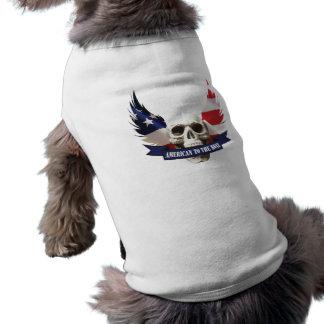Camiseta Americano ao crânio do osso