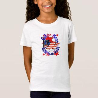 Camiseta Americano cubano do t-shirt das meninas
