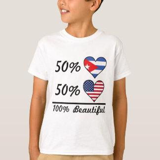 Camiseta Americano do cubano 50% de 50% 100% bonito