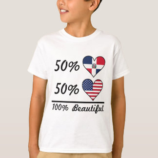 Camiseta Americano do Dominican 50% de 50% 100% bonito