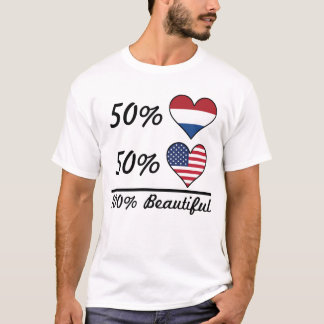 Camiseta Americano do Dutch 50% de 50% 100% bonito