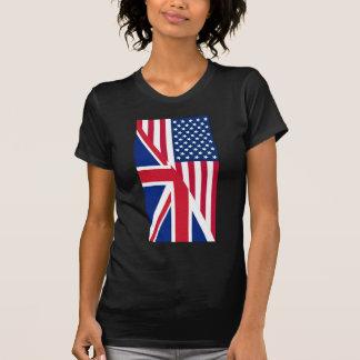 Camiseta Americano e bandeira de Union Jack