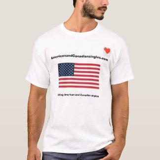 Camiseta Americano e canadense escolhe o t-shirt