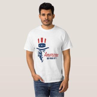 Camiseta Americano e orgulhoso dele t-shirt do valor dos