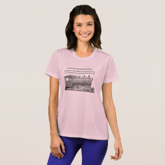 Camiseta Americano Locomotiva Empresa mulheres de 0-4-0 T