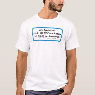 Camiseta Americano. Nenhumas desculpas