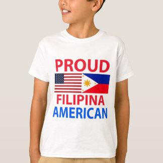 Camiseta Americano orgulhoso da filipina