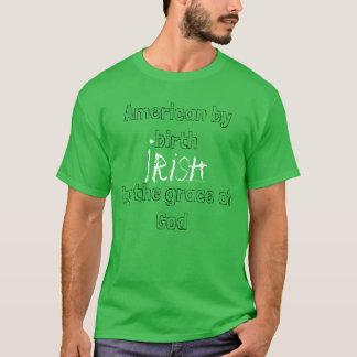 Camiseta Americano pelo irlandês do nascimento pelo TShirt