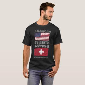 Camiseta Americano pelo suíço do nascimento pela herança da