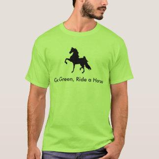 Camiseta Americano Saddlebred - vai o verde, monta um