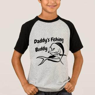 Camiseta Amigo da pesca do pai - t-shirt da pesca do menino
