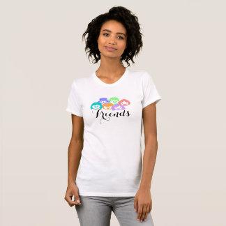 """Camiseta """"Amigos"""" amizade, o t-shirt das mulheres"""