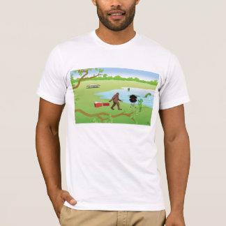 Camiseta amigos no lago