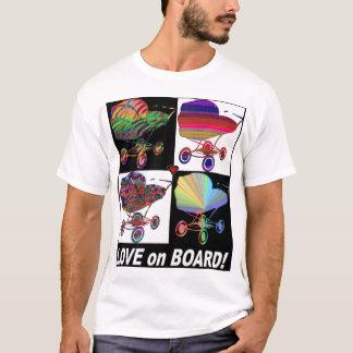 Camiseta Amor a bordo da parte superior da carruagem de