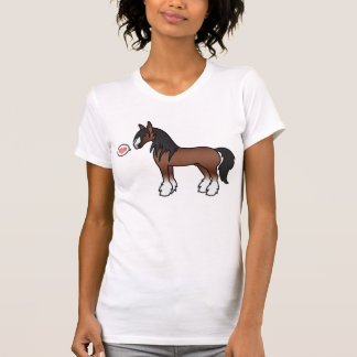 Camiseta Amor aciganado de Clydesdale do condado de Vanner