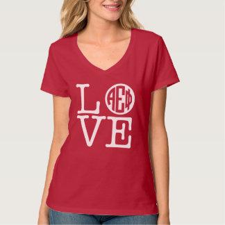 Camiseta Amor alfa da phi | do épsilon