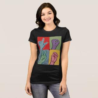 Camiseta AMOR ASL para o t-shirt das mulheres