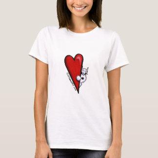 Camiseta Amor branco do Schnauzer
