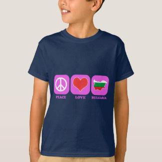 Camiseta Amor Bulgária da paz