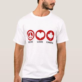 Camiseta Amor Canadá da paz