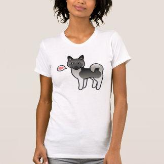 Camiseta Amor cinzento do cão dos alces de Elkhound do