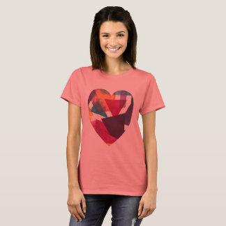 Camiseta Amor colorido T moderno na moda artístico bonito