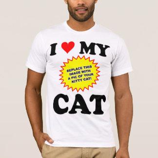 Camiseta Amor CUSTOMIZÁVEL de I meu gato