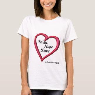 Camiseta Amor da esperança da fé