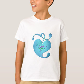 Camiseta amor da música 60s