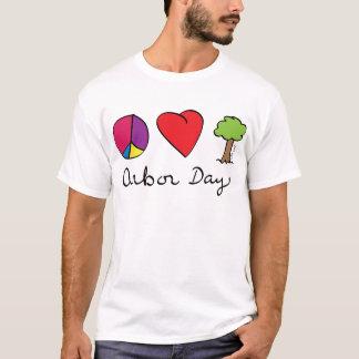 Camiseta Amor da paz & árvores - dia de mandril