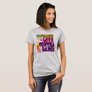 Camiseta Amor da paz contra a dança