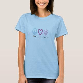 Camiseta Amor da paz e t-shirt do macarrão