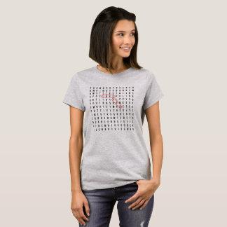 Camiseta AMOR das palavras cruzadas VOCÊ t-shirt do indício