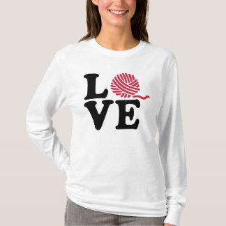 Camiseta Amor de confecção de malhas de lãs